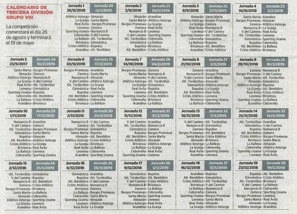 Calendario Tercera Division.Nuevo Cambio De Calendario En El Grupo Viii De Tercera Division